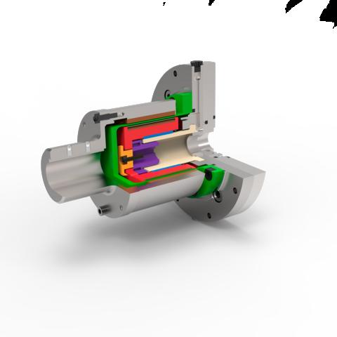 Querschnitt einer Magnetkupplung