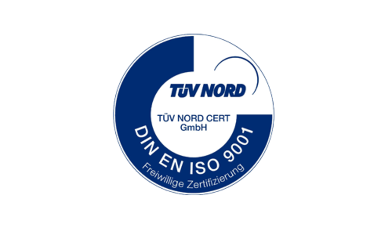 [Translate to English:] ISO 9001 Zertifikat