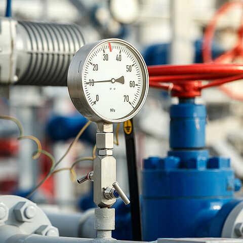 Pumpe eingebaut in eine Industrieanlage